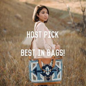 Large Wool Artisanal Duffle Bag